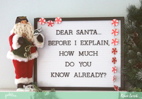 Dear Santa Letter Board Idea *Pebbles*