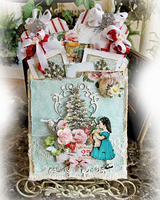 25 Days Of Christmas Stuffed Envelope Pocket Journal *Reneabouquets*