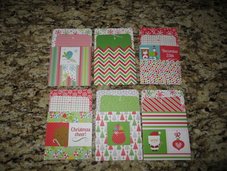 Library Pocket Gift Card Holders