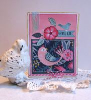Funky Bird Card