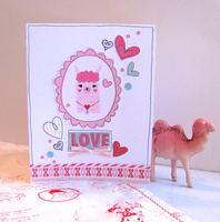 Valentine Card Llama