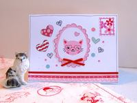 Valentine Card Cat