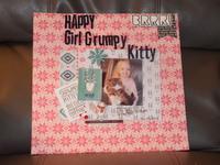 Happy Girl Grumpy Kitty