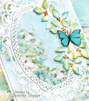 Delicate Blue card - Spellbinders