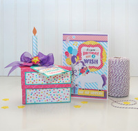 Happy Birthday Girl 3D Cake Box with Coordinating Card