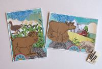 ATCs Farm Animals Stamps