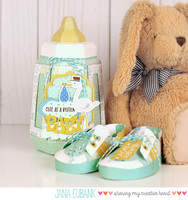 3D Baby Bottle Box and Baby Shoes