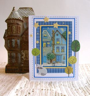 Note Card House Night