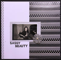 Sassy Beauty (March 2018 Washi Challenge)