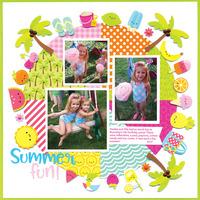 Sweet Summer Layout by Doodlebug Designers