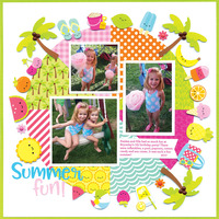 Sweet Summer Layout by Doodlebug Designers