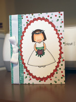 Bridal shower card Christmas colors