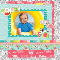 """Enjoy - Life Is Good"" Layout by Simple Stories Designers"