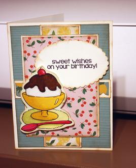 Sweet Wishes birthday card