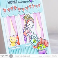 """Home is where the heart is"" - Card by Waffle Flower Designer"