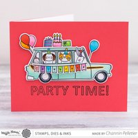 """Party Time"" Card By Waffle Flower Designer"