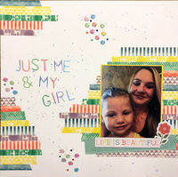 Just Me & My Girl (April 2018 Washi and What's On TV Challenges)