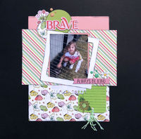 Brave (May 2018 Sketch With A Twist and Stamping Challenges)