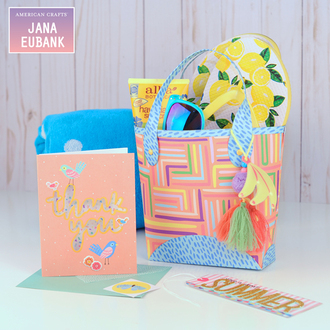 """Happy Summer"" Beach Tote Gift for Teacher"