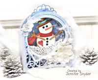 DIY Snowman SnowGlobe shaker card