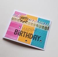 Color columns birthday card