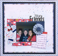 True Friends (June 2018 Becky Fleck Sketch #138 and Stamping Challenges)