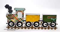 choo choo welcome baby train shaped card