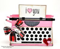 i heart you typewriter shaped card