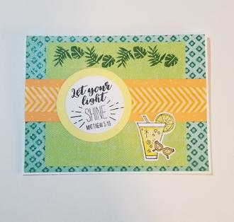 """""""SHINE"""" card"""