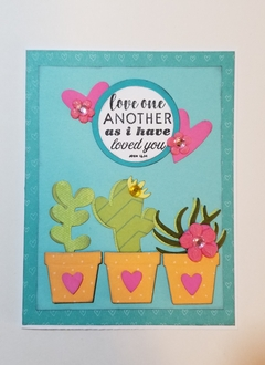 """""""Love one another"""" card"""