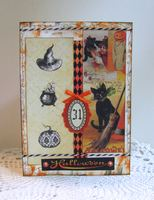 Halloween Card Cats