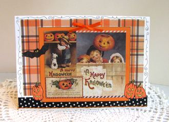 Halloween Card Plaid