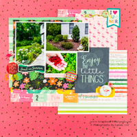 Scrapbook Layout Title Using a Pocket Card