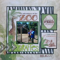 Our adventures at the zoo - giraffes