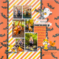 Disney Halloween Layout