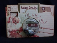 Vintage Christmas shaker scrapbook