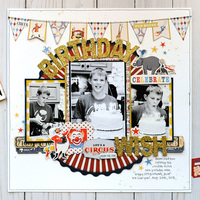 Carta Bella Paper Circus - Birthday Wish