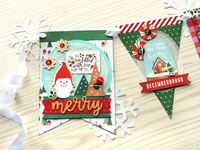 Pebbles Cozy and Bright - Christmas Banner