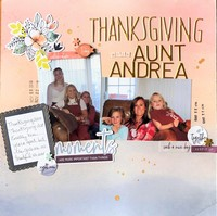 Thanksgiving with Aunt Andrea