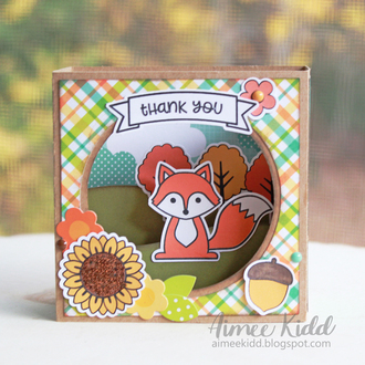 Thank You Box Card (Nov Card Challenge)