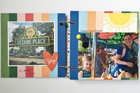 Sesame Place Mini Album Pages 1 & 2