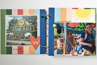 Sesame Place Mini Album Pages 1 & 2