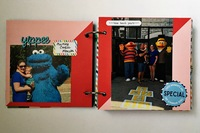 Sesame Place Mini Album Pages 3 & 4