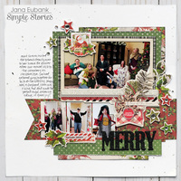 "Simple Stories Simple Vintage Christmas ""Merry"" Layout"