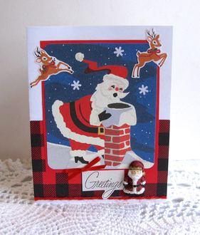 Christmas Card Vintage Santa