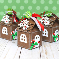 Gingerbread House Milk Carton Gift Boxes