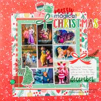 Disney Christmas Layout