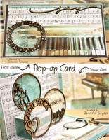pop-up music card with chipboard