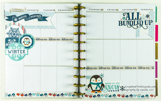 I Love Winter Planner Layout - Before the Pen