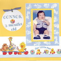 Connor at 3 months old - Suzy Zoo Challenge